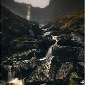 Kinder Scout waterfall also known as the 'Kinder Scut' or 'Kinder Downfall' I took the photo at about 600 meters above sea le...