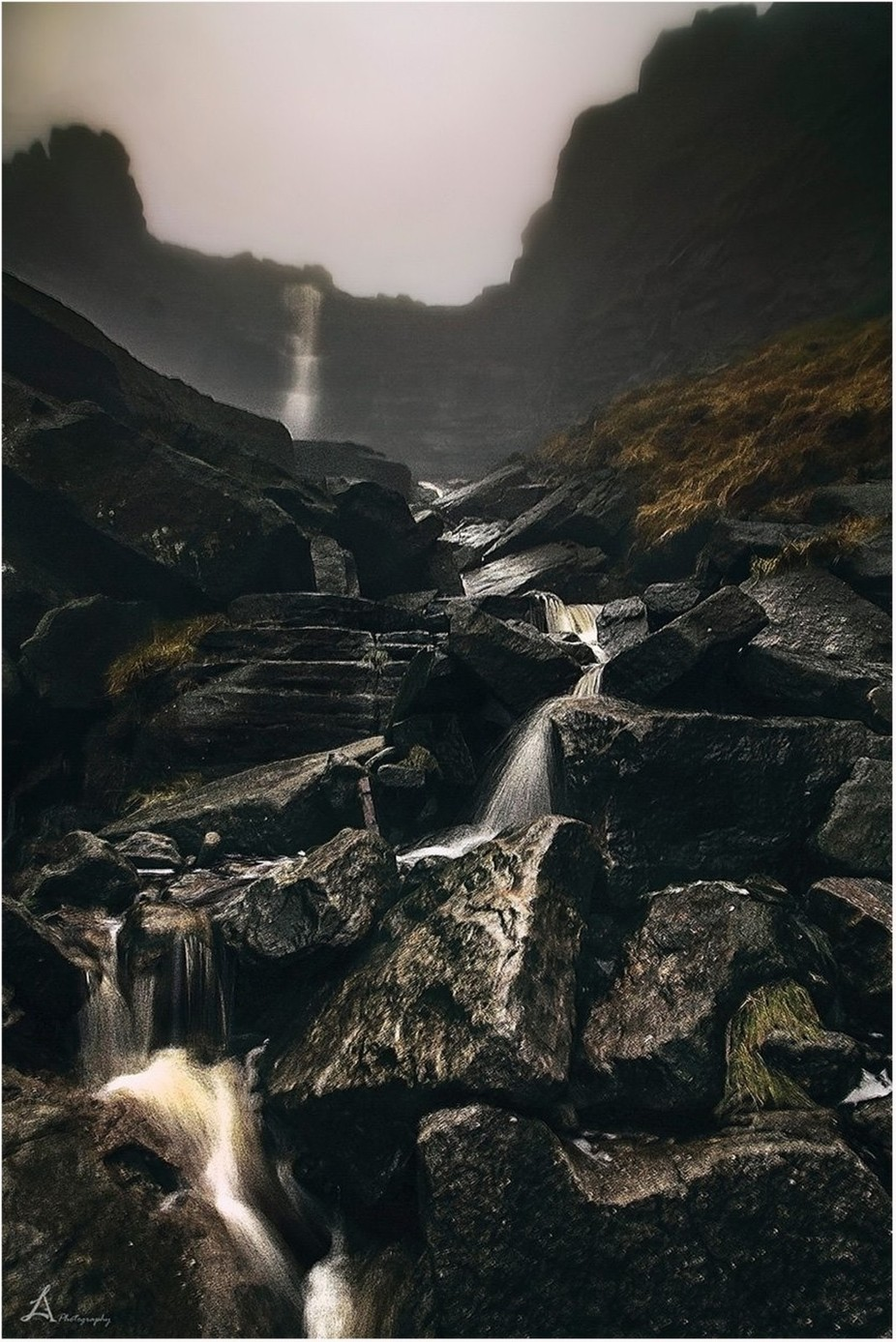 Kinder Scout waterfall by arnaslucinskas - Mysterious Shots Photo Contest