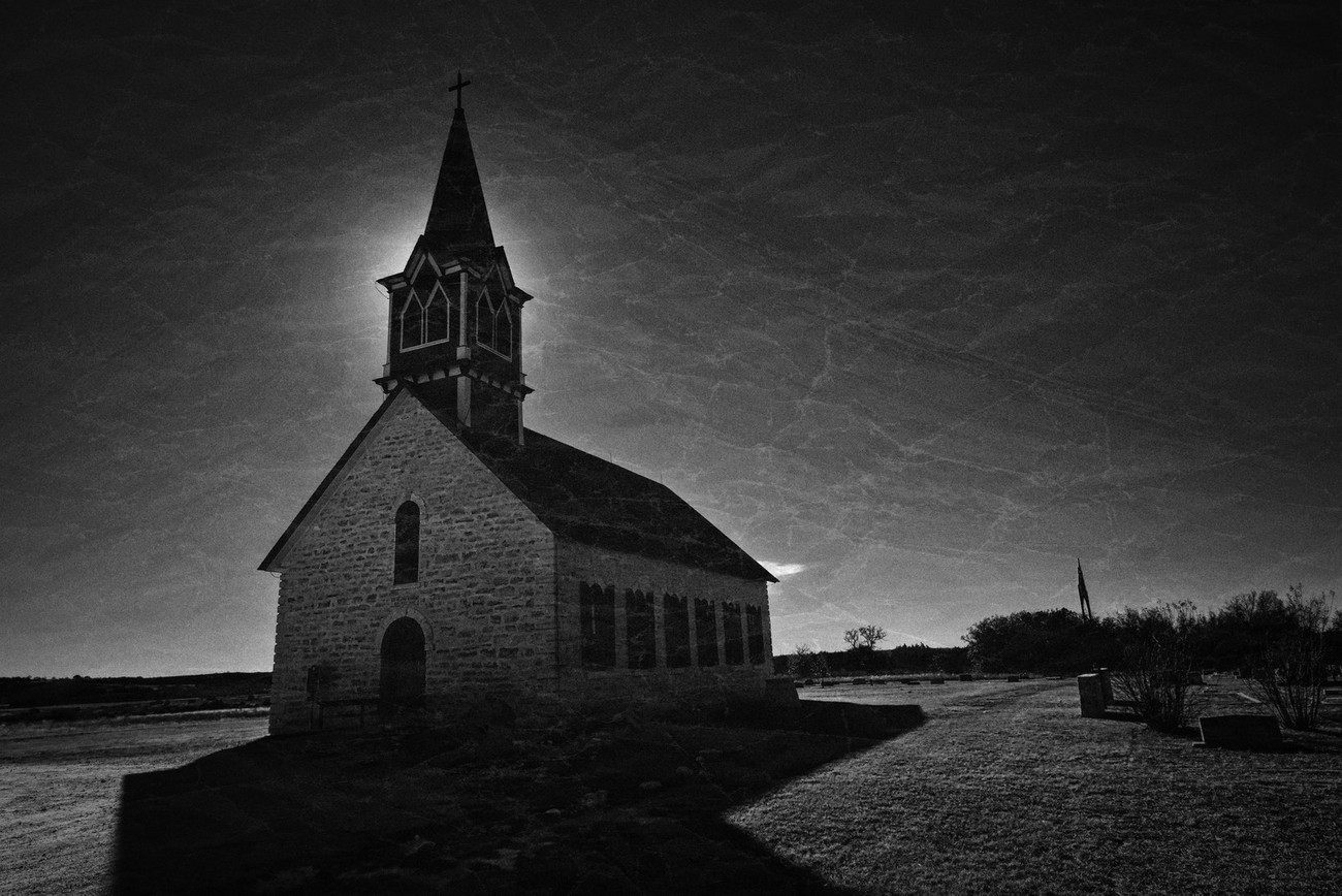 An old Norwegian Kirke out in the middle of rural Texas.
