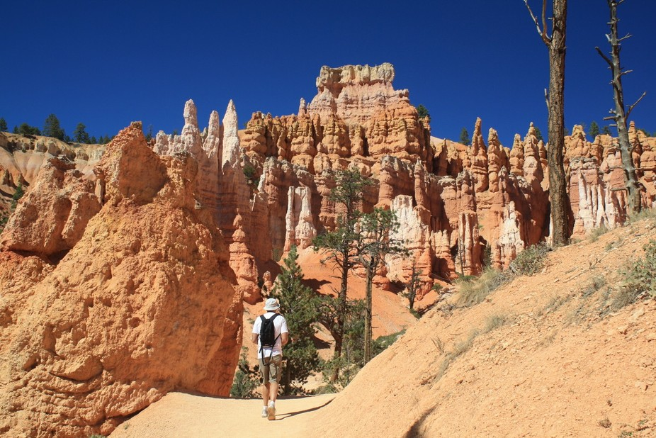 Hiking into Bryce Canyon.