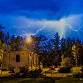 A great electrical storm while camping
