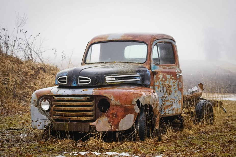 just a sitting and rusting away