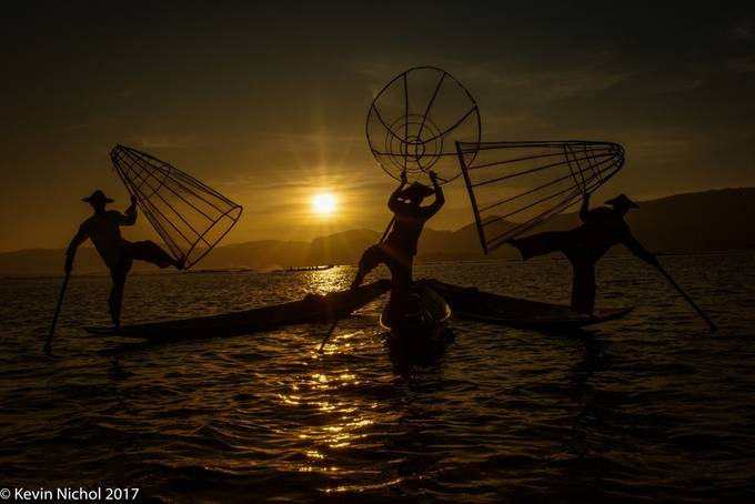 Inle Lake Leg Rowers by KevinNichol - Explore Asia Photo Contest