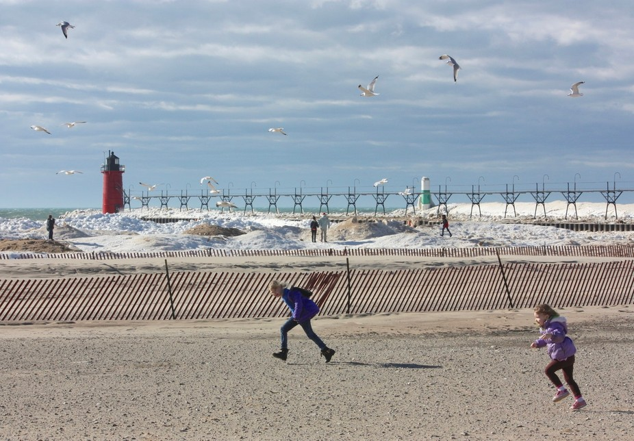 Enjoyed taking photos on a winter afternoon in South Haven, MI
