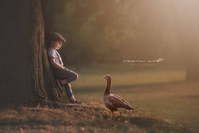 """""""I told you...I don't want to talk!"""" by RoxieArtPhotography - Children In Nature Photo Contest"""