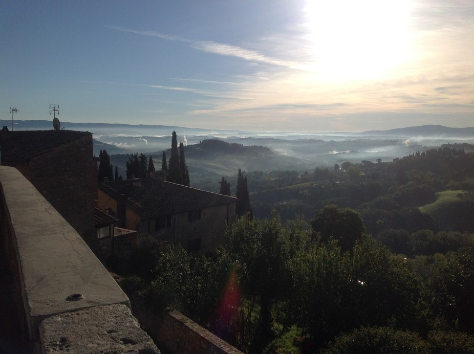Morning landscape view from Orvieto, Italy.