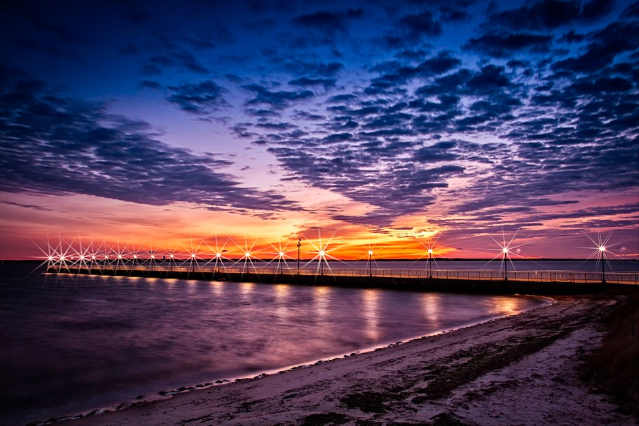 Sunrise at Fort Taber Pier, New Bedford Ma