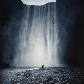 Skogafoss, Iceland. An incredible and unforgettable trip but here was a moment of solitude.