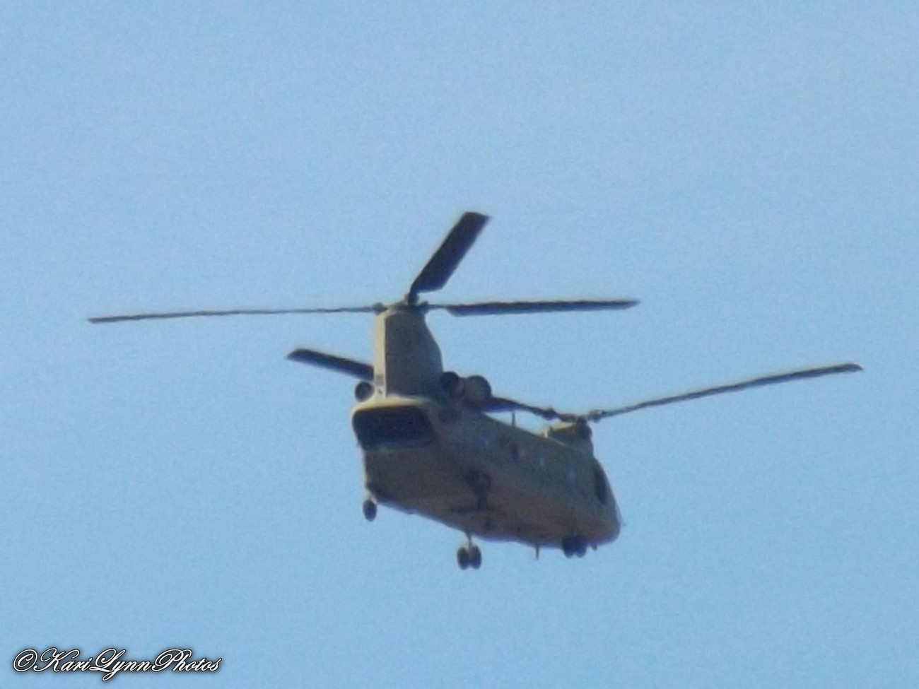 CH-47 Chinook~ one of two that flew over