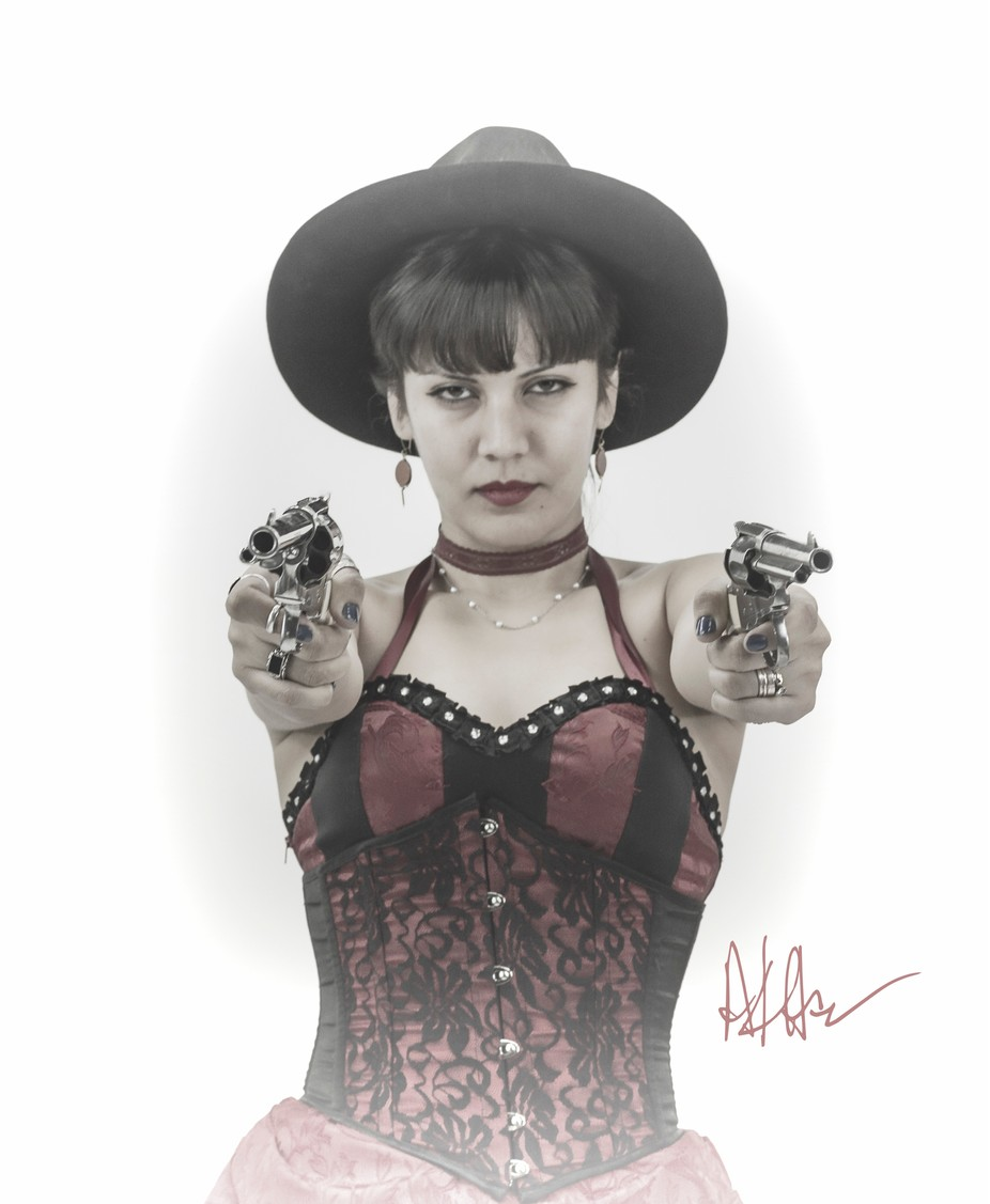 She is from the wild west and seems to be deadly serious.