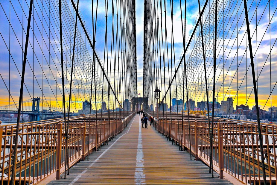 Brooklyn Bridge, New York.