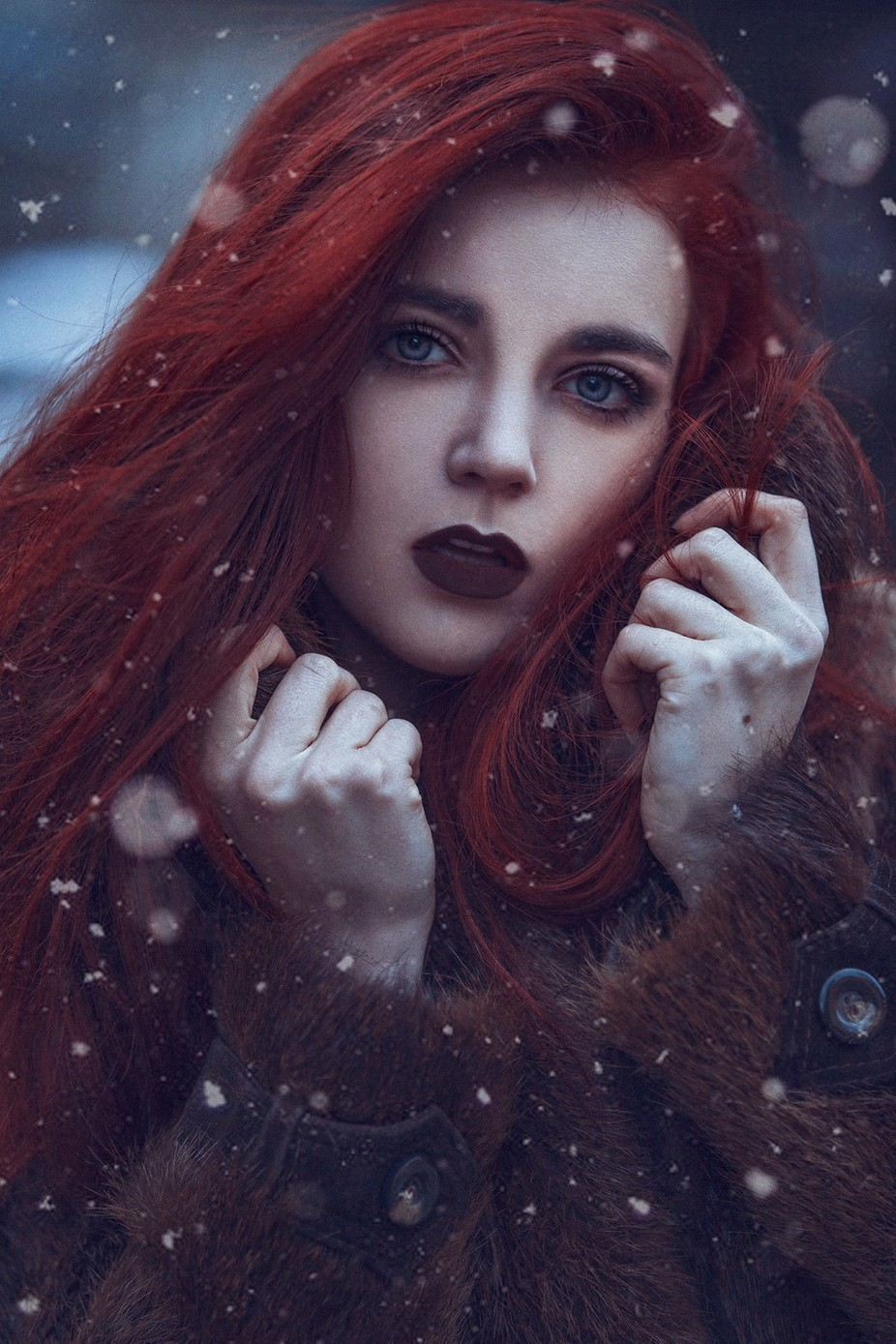 Fire and Snow by gracealmera - Red Hair Photo Contest