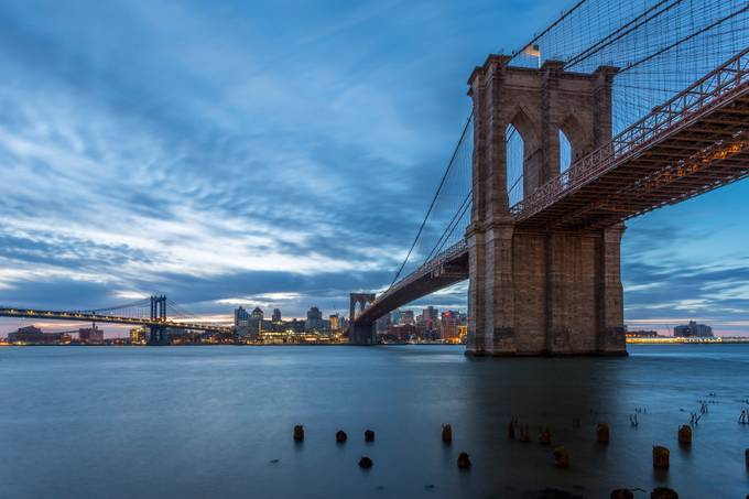 Brooklyn Bridge at sunrise by PJImages - The Blue Hour Photo Contest