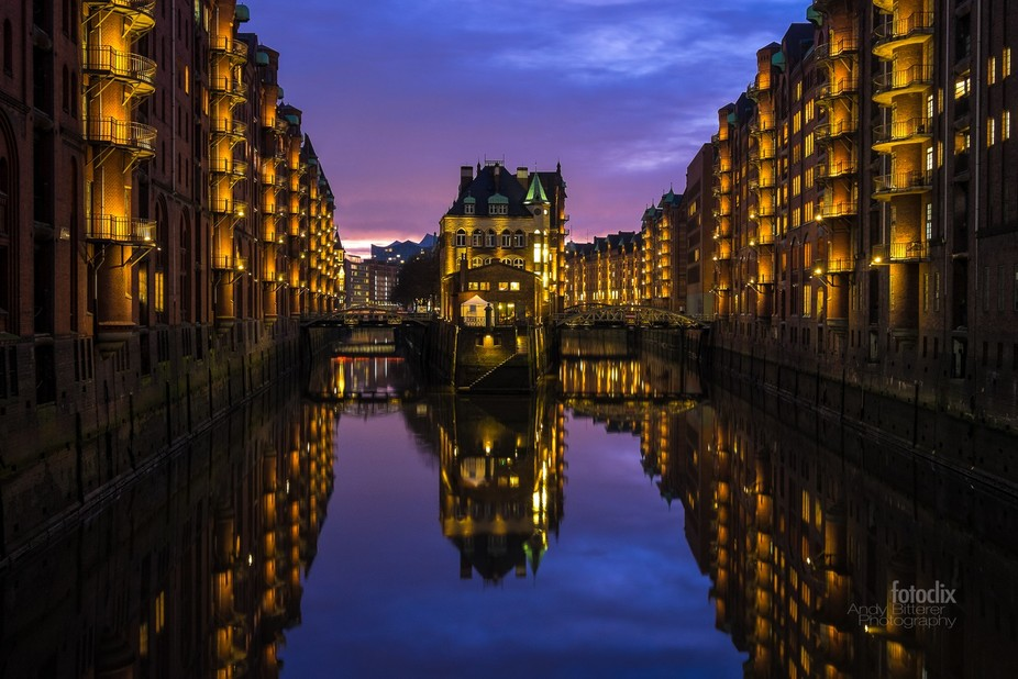 "The Hamburg ""Wasserschloss"" in the old warehouse district"