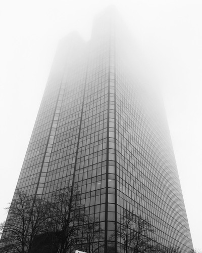 Went out on a foggy day downtown