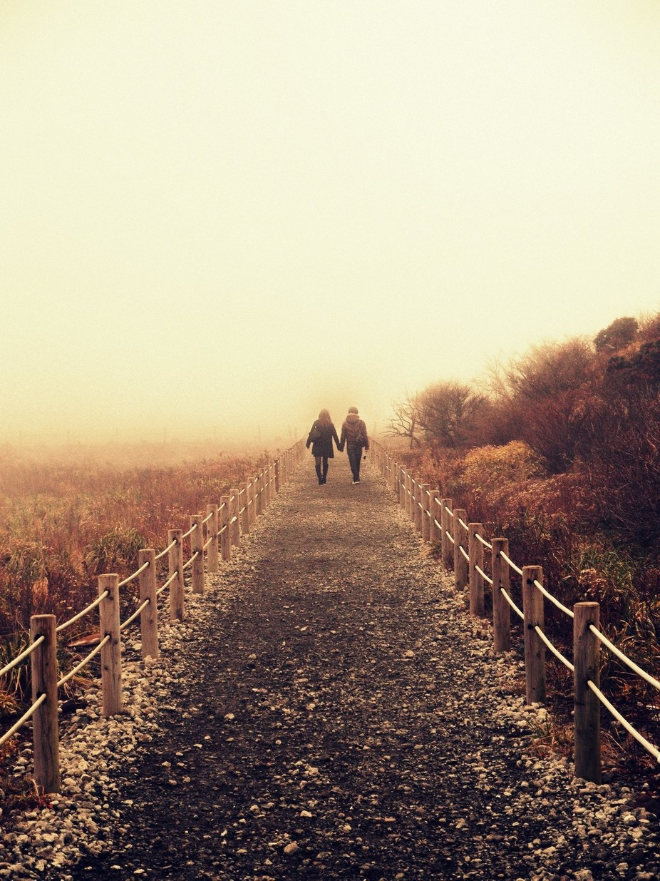 Couple in the Mist by DoodlesNDabbles - Romantic Photo Contest