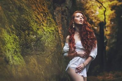 Redhead in autumn