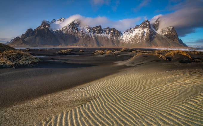 'Rippled Sands & Ridges' - Stokksnes - Mt Vestrahorn, Iceland by kriswilliams - Landscapes And Sand Photo Contest