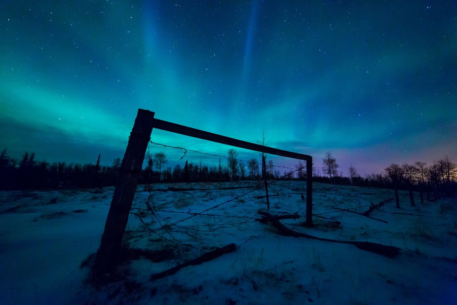 This image was captured in rural Alberta, Canada while doing a time-lapse of the Northern Lights.
