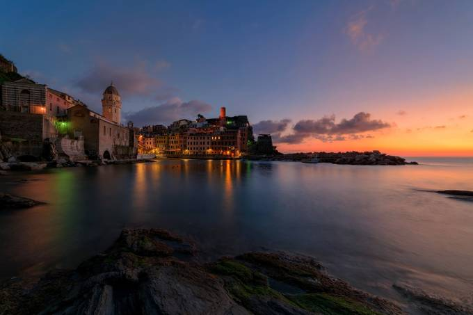 Blue Vernazza by methariorn78 - Night Wonders Photo Contest
