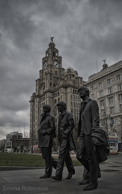The Beatles by the Liver building