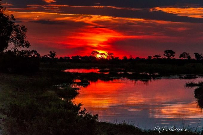 Sunset on the Linyati River in Botswana