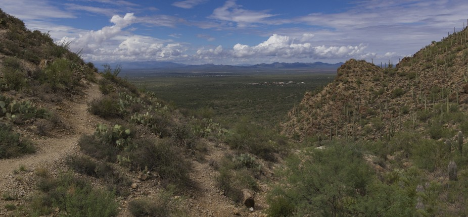 The Valley west of Tucson with a bank of clouds