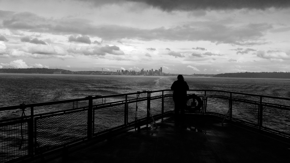 I took this photo while riding on the Bainbridge Island ferry.  It was a day of adventure in the ...
