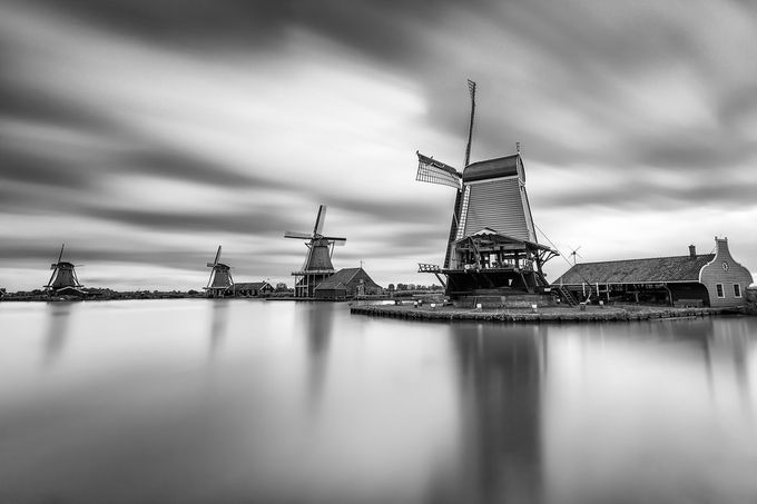 Zaanse Schans by Bilderschmied-Danz - The Moving Clouds Photo Contest