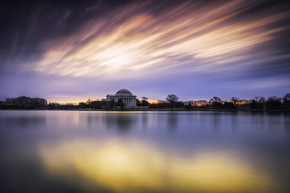 Peace and tranquility prevaled on the Tidal Basin this morning, but don't be lulled.  Wa...