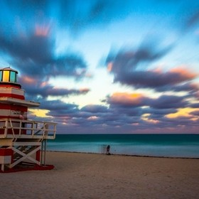 Taken looking East into the Atlantic ocean at the Southernmost point of South beach, Miami Beach, Florida