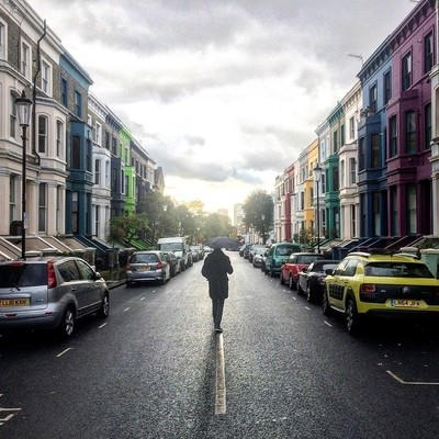Colorful houses in London