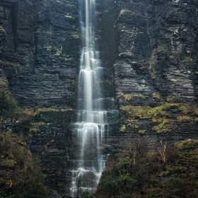 Irelands highest waterfall up in the dartry mountain range in sligo.