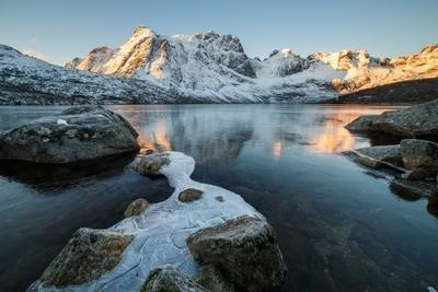 Iced mountain