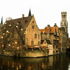 A riverside restaurant in one of the oldest cities of Belgium. Bruges is the place. The famous city of Canals