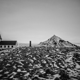 Church on the Snaefellsnes peninsula in Iceland.