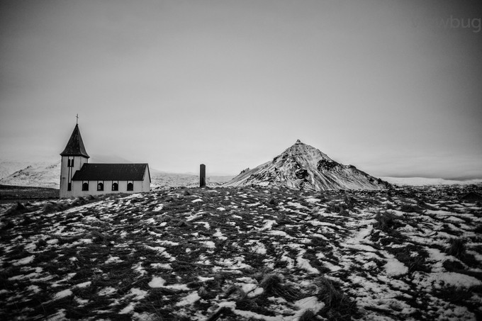 Hellnar Church by pamramseycorey - Black And White Compositions Photo Contest vol2