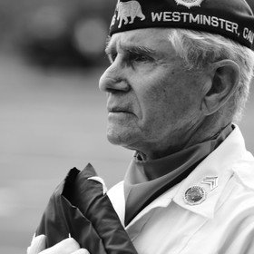Veteran at the Vietnam War Memorial