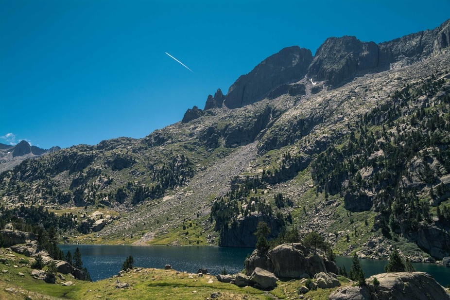 The national park of Aigüestortes in the Spanish pyrenees is known by their lakes and river, eve...