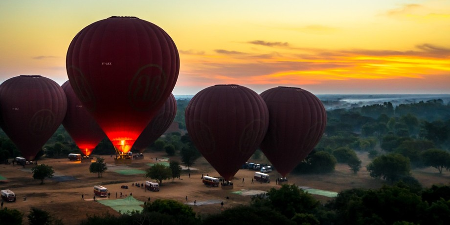 My first ever hot air balloon ride and it was over Bagan, Myanmar. I was so excited! What an expe...