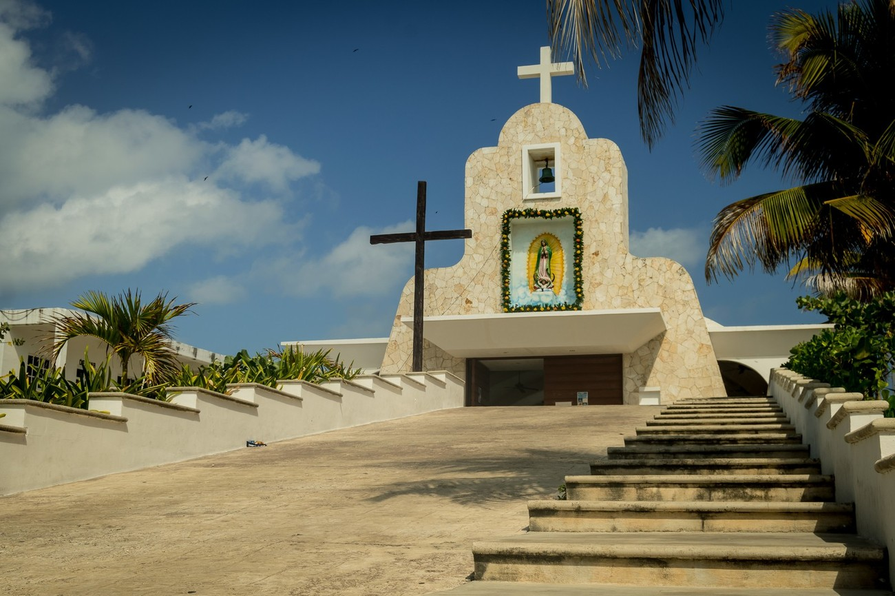 Church that is on the small Isle of Women which is near Cancun, Mexico