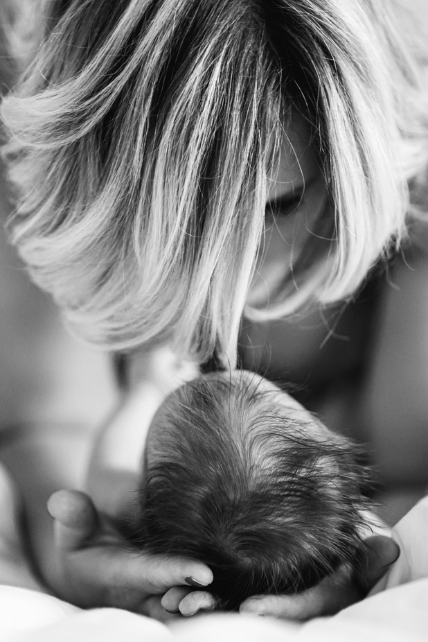 Mother's hands by Photo-Lee - Babies In Black And White Photo Contest