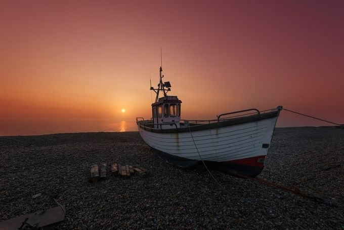 Warm sunrise by alechickman - Ships And Boats Photo Contest