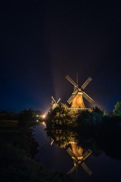 Windmills beneath the stars
