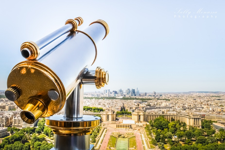 A view of Paris from the top of the Eiffel Tower