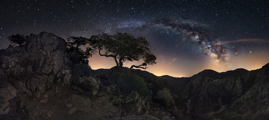 In a night of June I shooted this panoramic from the peaks of Monti Mannu, 900m. After a strenuou...
