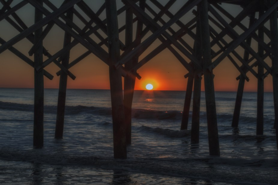 sun at the pier