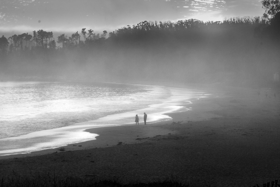 Taken on a foggy day at the beach