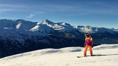 Snowboarding up high
