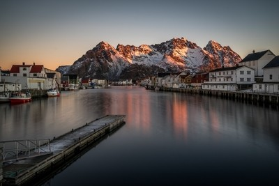 Henningsvaer Lofoten Norway sunrise